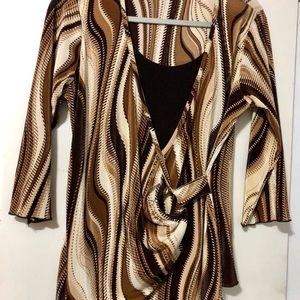 Brittany Black Women's Sz L L/S blouse